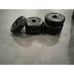 Lot 24 disques Don Oliver LesMills BodyPump noir de 1 kg 5 cm de diamètre