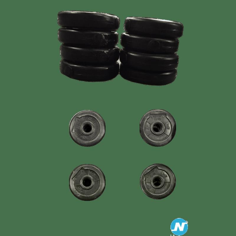 Lot 24 disques Don Oliver LesMills noir de 1 kg 5 cm de diamètre