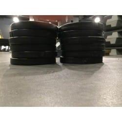 Lot de 12 disques avec poignée LesMills Don Oliver 2,5Kg Noir