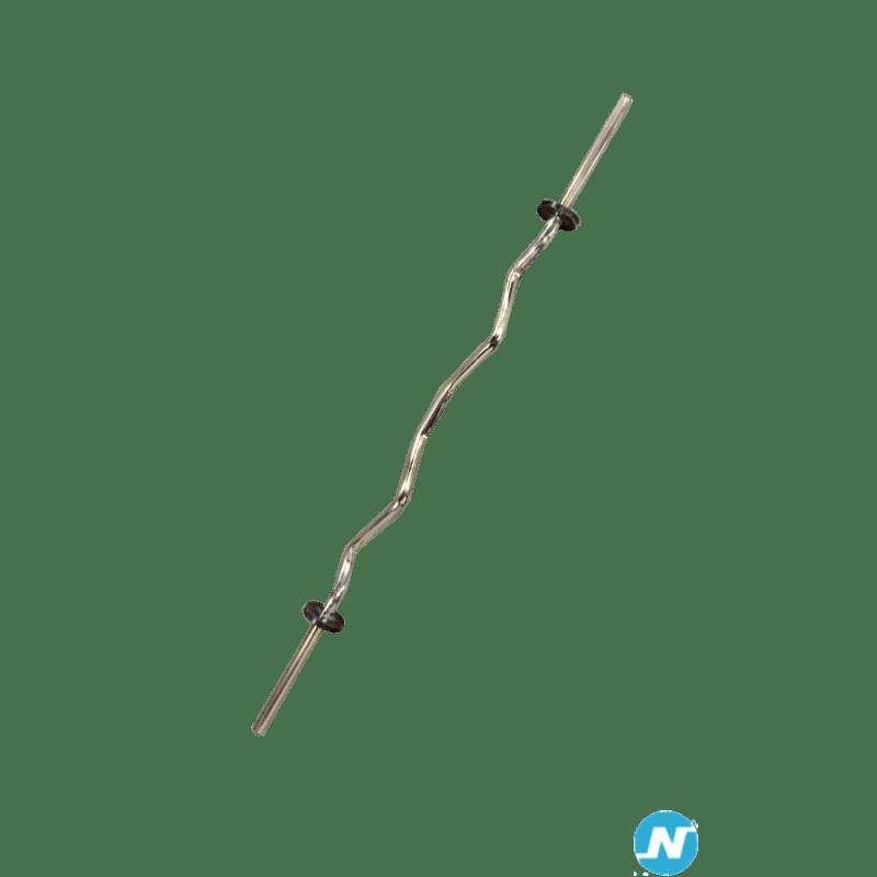 Barre de musculation Curl Technogym 10kg avec bague de serrage