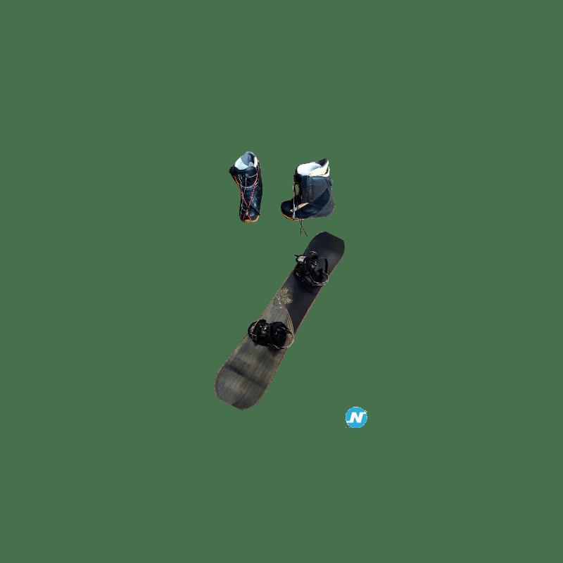Snowboard Ride 163 cm et boots Nitro 43,5