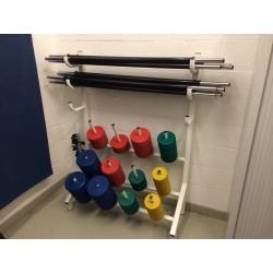 KIT fitness barres et poids