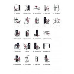 Lot Matériel Musculation cardio LEXCO