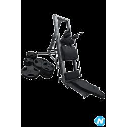 Machine combinée hack squat et presse à jambes