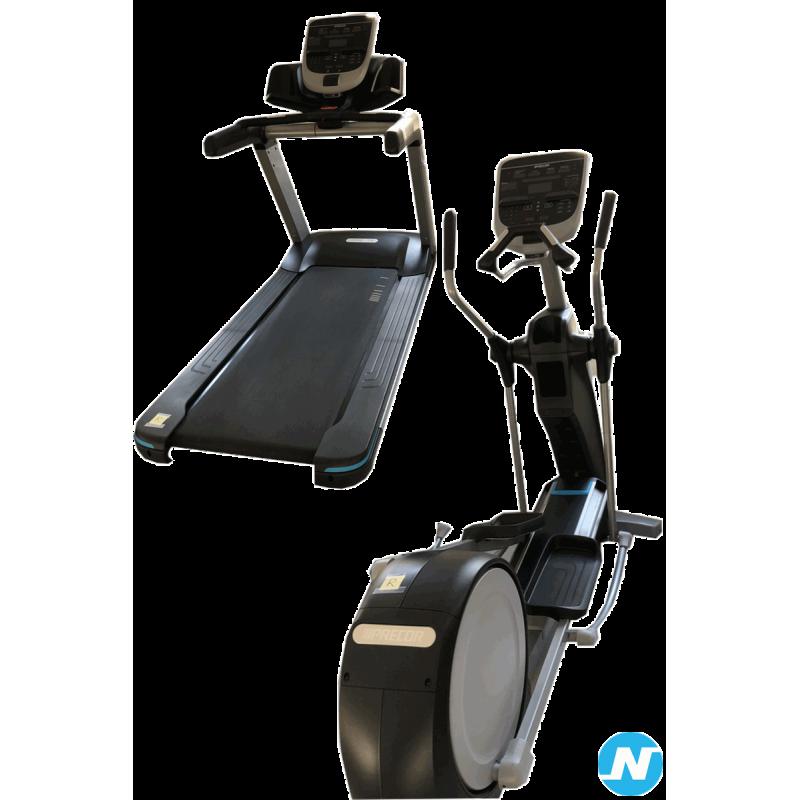 Lot de deux équipements de cardio PRECOR : un tapis de course et un vélo élliptique