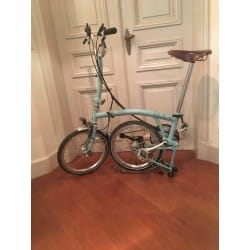 vélo pliable M6L brompton selle brooks