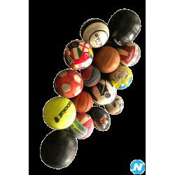 Lot de 15 ballons foot, handball, volley, foot américain…