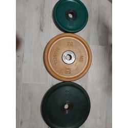 lot de 20 disques musculation caoutchouc